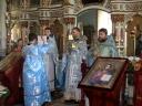 La slujba religioasă a fost prezent și preotul din comuna Tohatin