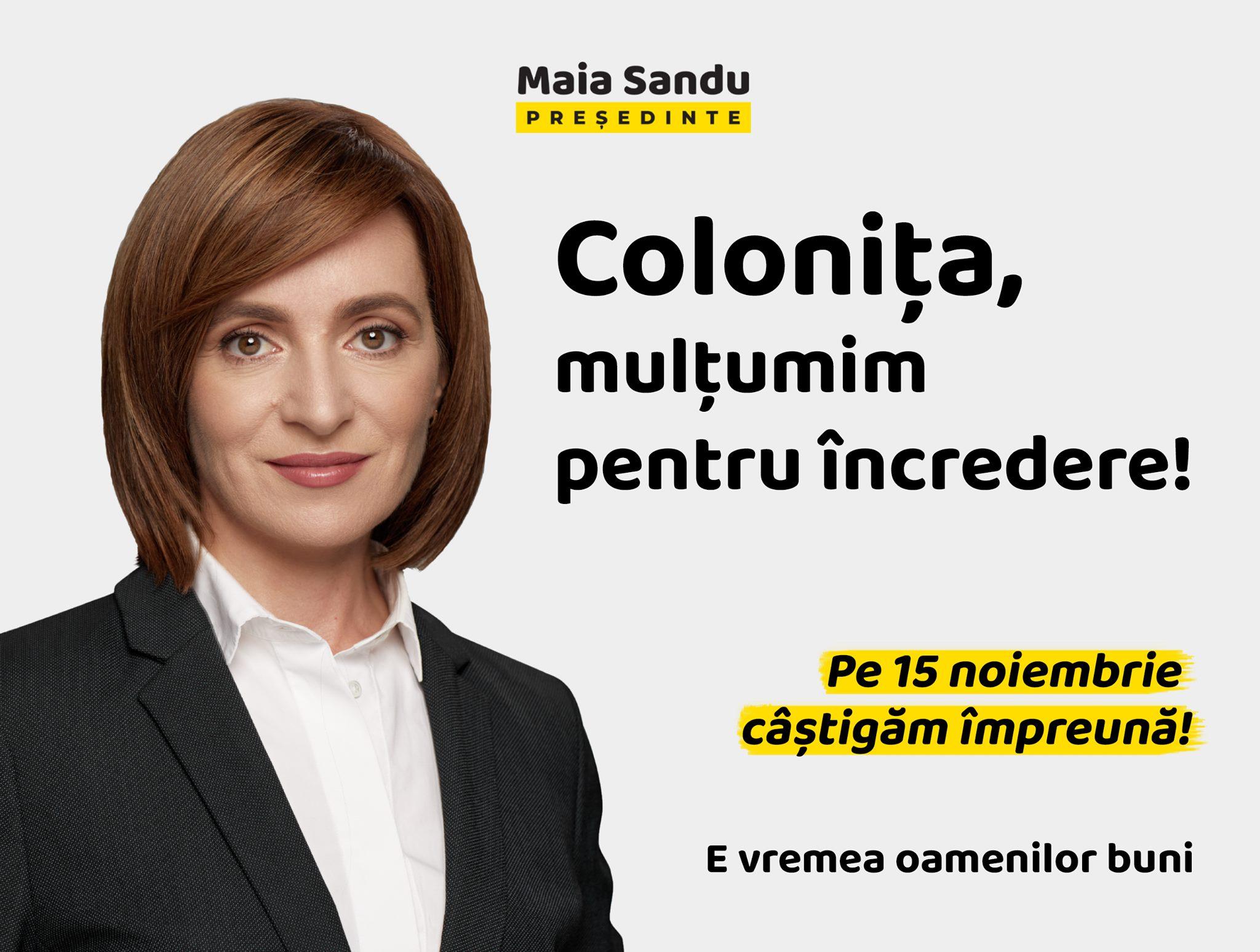 Votul colonițenilor în turul I al alegerilor prezidențiale din 1 noiembrie 2020