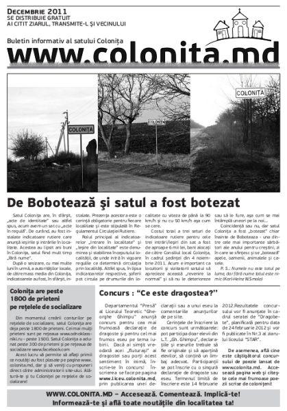 Ziarul din luna Decembrie